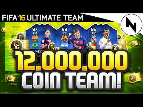 12,000,000 COIN SUPER TEAM! - FIFA 16 Ultimate Team - THE BEST TEAM IN FIFA #12