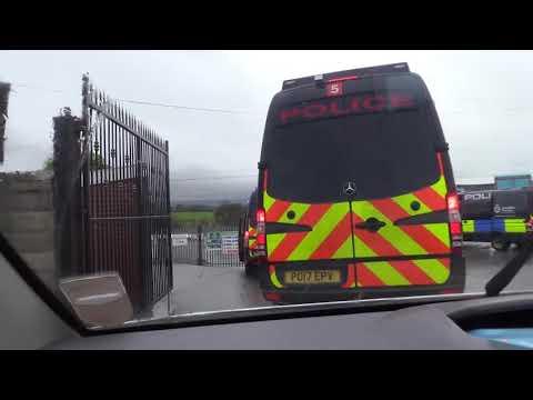 Police enforce closure order at Great Harwood site