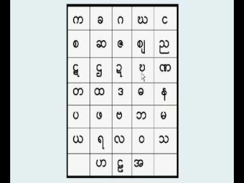 33 Burmese/Myanmar consonants: Lesson 1