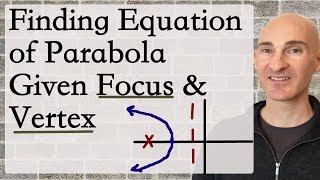 Finding Equation Of Parabola Given Focus And Vertex