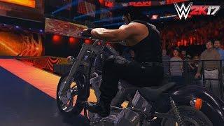 WWE 2K17 - Roman Reigns steals Undertakers Bike
