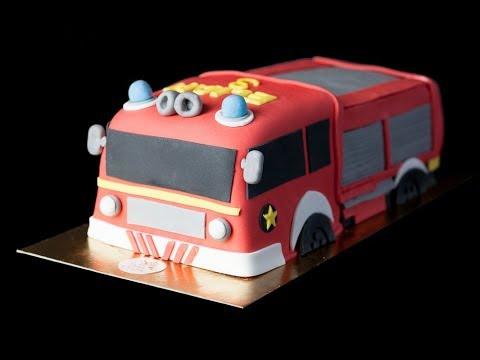 Gateau Pompiers |  Firefighters truck Cake | LYONA Genève