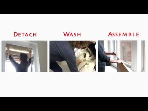 Curtain Call Roman Shade - HOW TO WASH - Part 2