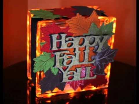 DIY Glass block christmas decorating ideas