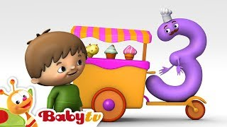 Counting with Charlie & The Numbers - Charlie meets Number 3 | BabyTV