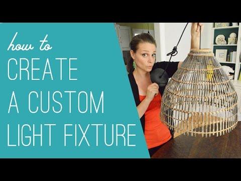 How To Make A DIY Woven Light Fixture