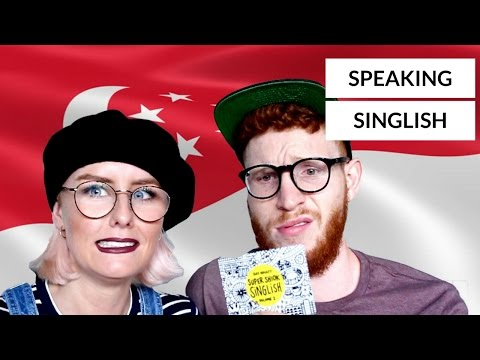 FOREIGNERS TRY SPEAKING SINGLISH!