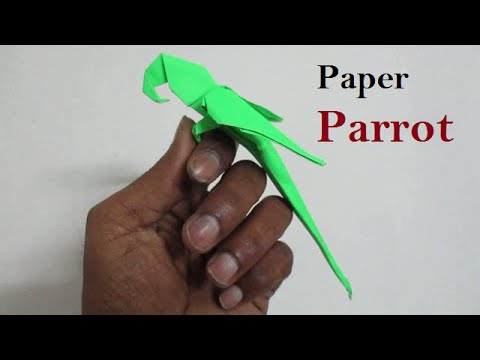 Origami Parrot - Origami Parrot That Sits On Your Finger