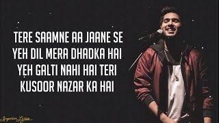 Dil Mein Chhupa Loonga - Wajah Tum Ho (Lyrics) | Armaan Malik & Tulsi Kumar | Meet Bros