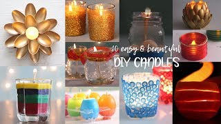 Download 10 Easy and Beautiful DIY Candles | Useful things | Compilation Video