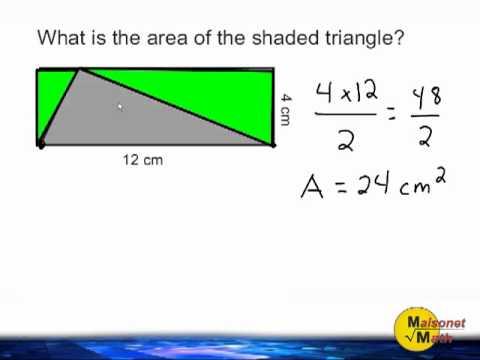 Area Of A Triangle Inside Of A Rectangle