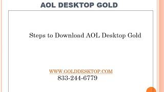 How to Download AOL Desktop Gold