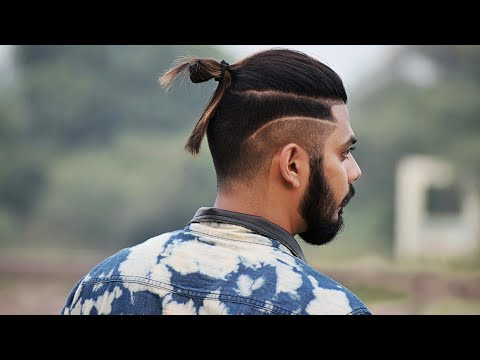 Long Length Haircut For Indian Men ★ With Side Faded Line ★ Get the Look