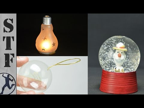 3 DIY Christmas Decorations Made From Light Bulbs 💡