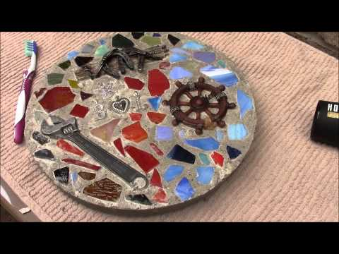 How to Make a Memorable Stained Glass Stepping Stone