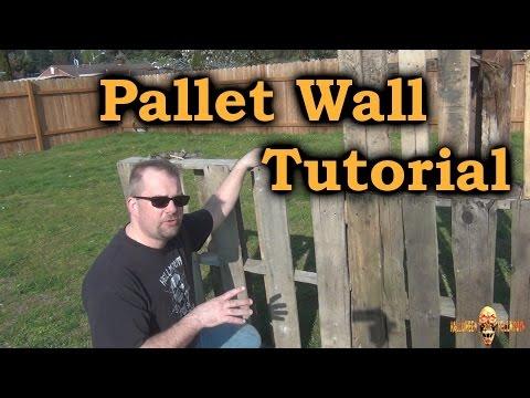 Pallet Wall Tutorial - Making Walls Using Pallets!!!