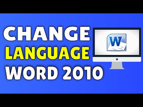 How To Change Language On Microsoft Word 2010