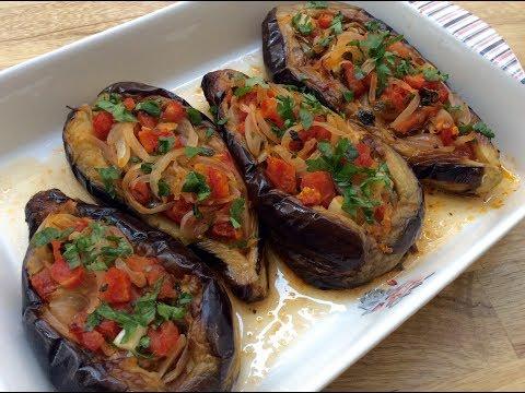 A TURKISH CLASSIC, 'IMAM BAYILDI' RECIPE -  Fried And Stuffed Eggplants