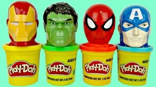SUPERHERO Play Doh Sweets Dispensers with Avengers Ironman, Spiderman
