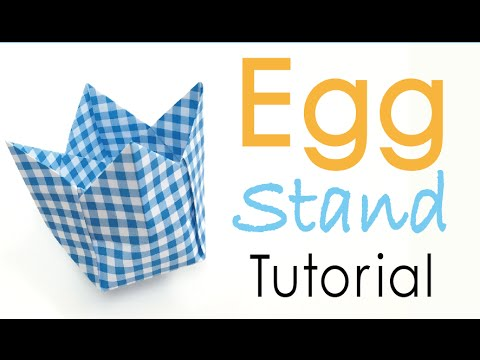 Origami Paper Easter Egg Cup Holder (Egg Stand Box) - Origami Kawaii〔#017〕