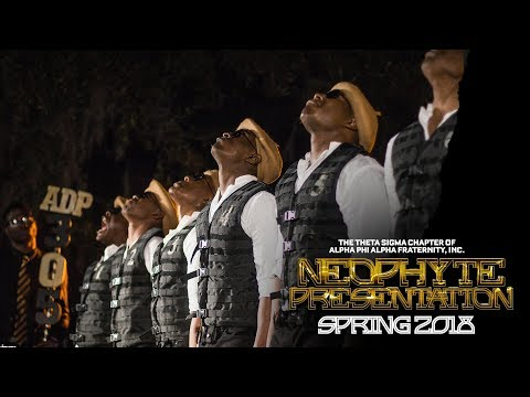 Theta Sigma Chapter of Alpha Phi Alpha Fraternity, Inc. | Spring 2018 Neophyte Presentation