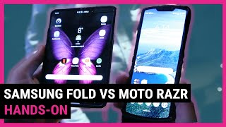 Moto Razr VS Galaxy Fold   Top 5 Differences We Noticed Side By Side