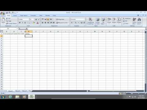 How to create an Excel 2007 Database
