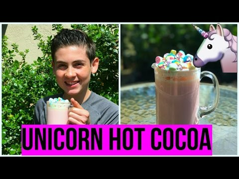 UNICORN HOT CHOCOLATE🦄| EASY! | Episode 30 Baking With Ryan