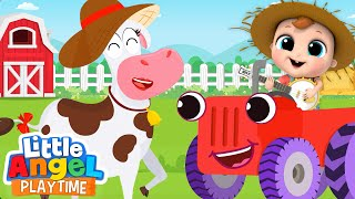 Baby John Visits A Farm | A Cow Named Lola | Little Angel Kids Songs