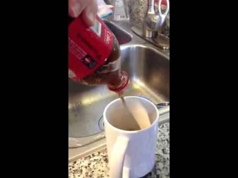 Coke slushie freezer experiment