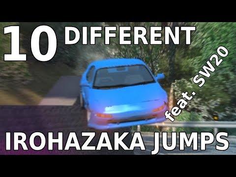 BeamNG.drive   10 different Irohazaka jumps   feat. Kogashiwa's SW20