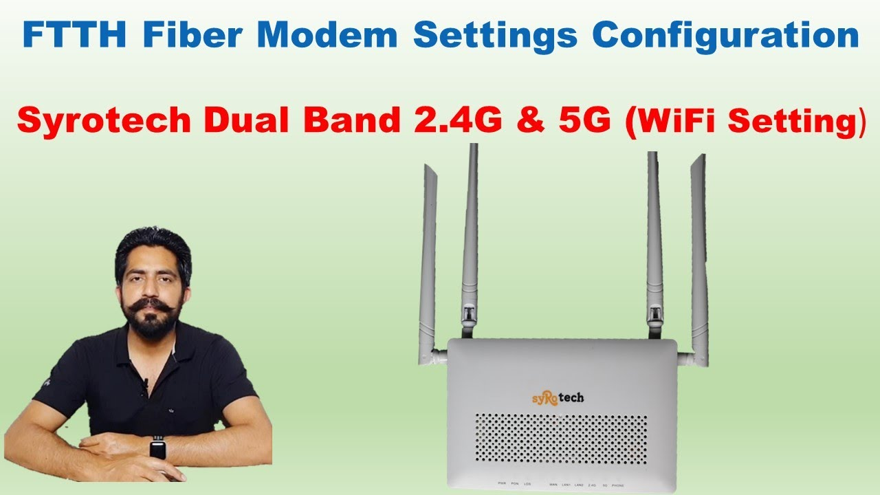 Syrotech Dual Band FTTH Fiber Modem ONU Unboxing & Configuration Settings || WiFi Change Password