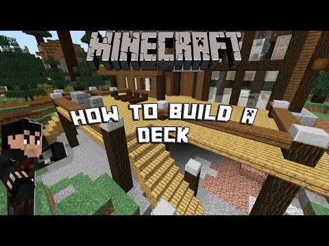 MINECRAFT: How to build a Porch/deck w/ Grill