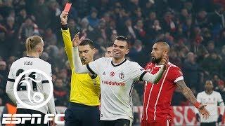Should Besiktas player have let Robert Lewandowski score instead of getting red card?   ESPN FC
