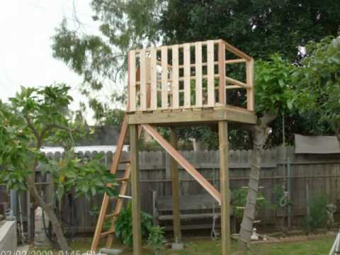 HOW TO MAKE A TREE HOUSE FOR YOUR BACK YARD