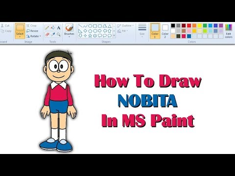 How To Draw NOBITA in the easiest way | MS Paint | Doraemon