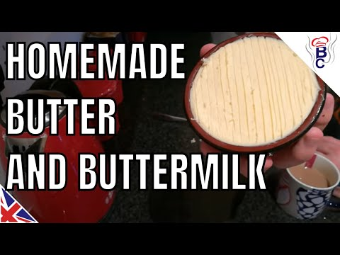 How To Make Butter For Christmas - CHEAP + Butter Milk Recipe