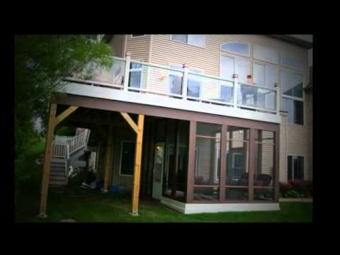 Trex Deck with Glass Railings