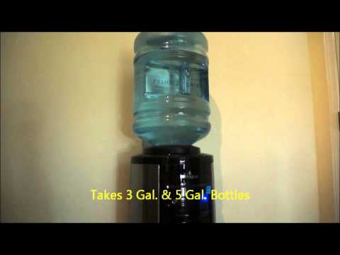Glacier Bay - Hot, Room and Cold Water Dispenser in Black and Stainless Steel