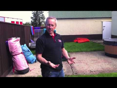 How to Fold a bouncy castle