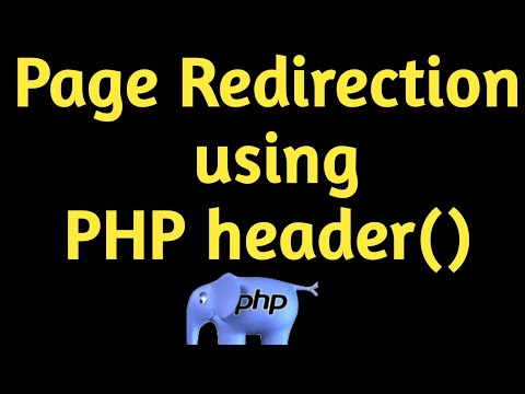 PHP For Beginners: Using the Header to Force Page Redirect.  Hindi/Urdu
