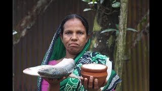 Village Food | Doi hilsa recipe | Grandmother recipes-115