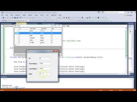 VB.NET - DataGridView Show Selected Row Data In Another Form Using Visual Basic .Net  [ + code ]