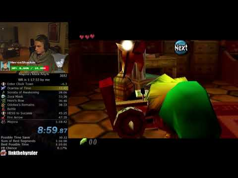 The Legend of Zelda: Majora's Mask Any% Speedrun (New Route 1:17:57)