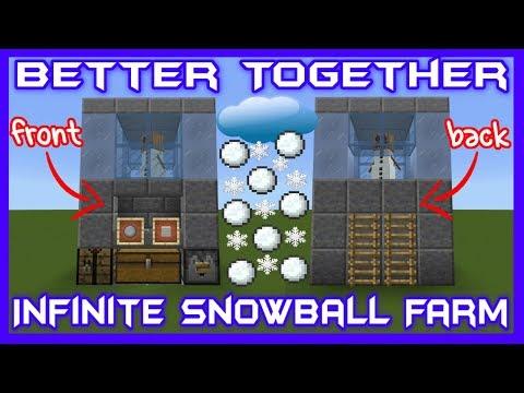 Infinite Snowball Farm Bedrock Edition