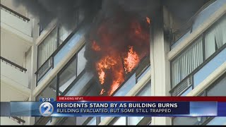 People reportedly trapped as firefighters battle 5-alarm fire in Marco Polo building