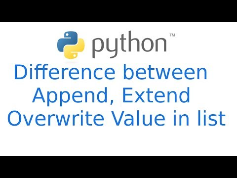 Difference between Extend & Append  overwrite value in python