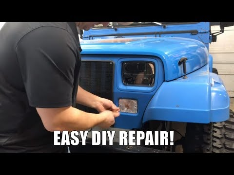 How To Remove Jeep Wrangler YJ Turn Signal Light Assembly