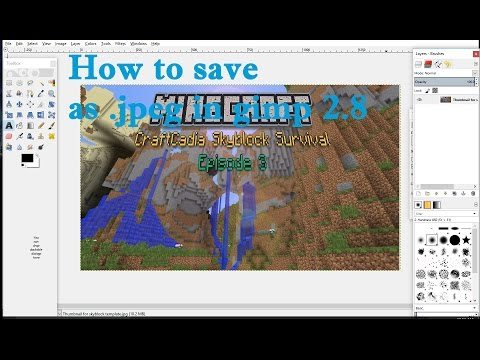 How to Save Your Pictures as JPEG in Gimp 2.8