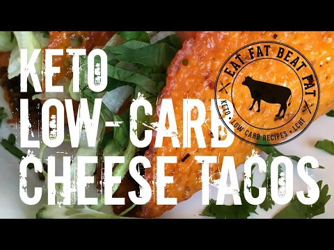Keto Low-Carb Cheese Tacos - by @eatfatbeatfat